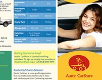 Austin CarShare Trifold Brochure