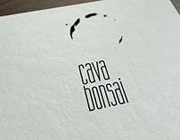 Logo and sign for Cava Bonsai