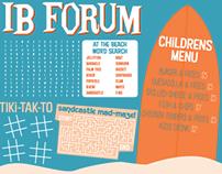 IB Forum menu redesign