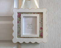 Shabby chic - photo frame.