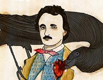 Editorial illustration - Edgar Allan Poe