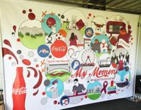 Coca Cola Hokies Taste the Feeling Mural