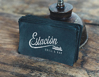 Logo Design for Estacion Restaurant, NYC