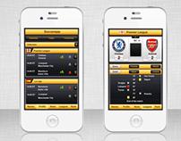 UI design for Soccer app