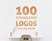 100 Typo Logos + 100 Logo Frames