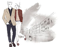 Illustrations for Massimo Dutti