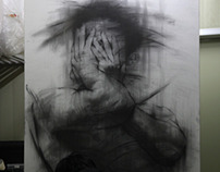 charcoal  on canvas