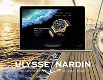 Landing page design Ulysse Nardin