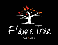 Flame Tree Bar & Grill Logo Development