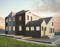Концептуальный проект облика частного дома.