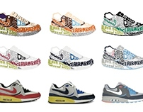 Nike Airmax Light OG QS typographic illustration