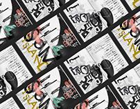 Magazine Interview Layout Design - Grunge Style