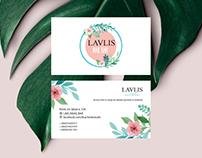 'LAVLIS NAIL BAR' business card design