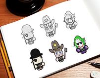Fan Art Minimalist Characters
