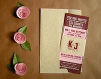 Jason + Katy     Wedding Invitations