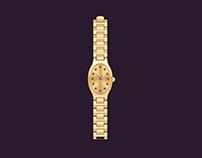 Metallic-Oval-Wrist-Watch