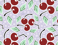 Cherries Surface Design and Pattern by Andy Bauer