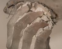 Clutch: Cast Glass Hand