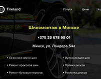 Tire Service website design