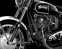 Norton Commando 750 poster