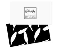 Black & white pattern business card $12.00