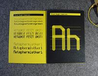 Monocrane Mono Font & Specimen Sheet