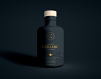 Free Product Ceramic Bottle Mockup