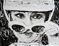 audrey hepburn collage