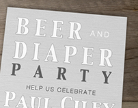 Printable Invites | Beer and Diaper Party