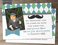Little Man Birthday Party Invitations | Printable