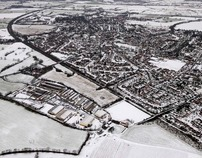 Aerial Snowscapes, Lancashire, England