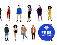 Free Flat Characters Illustration
