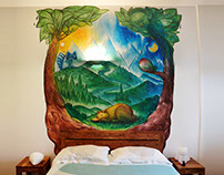 BEDROOM / Interior mural
