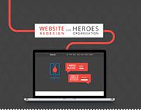 Website Redesign for Heroes Organisation
