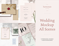 Wedding Mockup All Scenes