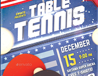Table Tennis II - Ping Pong Flyer Template