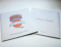 Print: New York Knicks Legends Night Commemorative Book