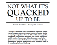 Medical Quackery Editorial Spread