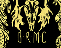 """Love Burns"" silkscreen band poster design for BRMC"