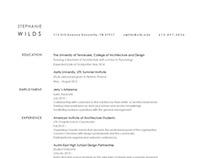 Stephanie Wilds Resume 2013