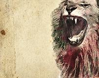 Lion / Aquarelle numérique