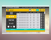 Fantasy Wager Interface Design