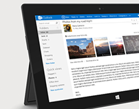 Outlook.com Visual/UI design (2012)