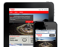 ToyotaRacing Responsive Site Re-Design Concept