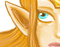 iPad Art - Zelda Sketch