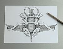 Creazione logo illustrato a mano settore moda