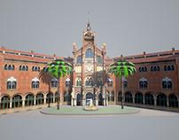 Hospital de la Santa Creu i Sant Pau: 3D