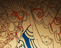 vogue bambini retail wall illustrations
