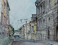 "Graphics, ""en plein air"", study works"