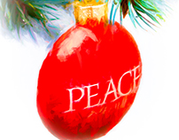 """Christmas Peace"" Christmas Card"